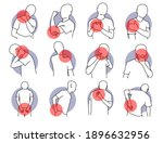 pain and injury on human body... | Shutterstock .eps vector #1896632956