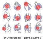 pain and injury on hand and leg ... | Shutterstock .eps vector #1896632959