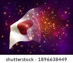 japan  vector 3d flag on pink...   Shutterstock .eps vector #1896638449