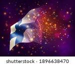 finland  vector 3d flag on pink ...   Shutterstock .eps vector #1896638470