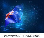new zealand  vector 3d flag on...   Shutterstock .eps vector #1896638500