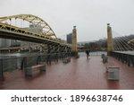 Man Walking A Dog In Pittsburgh ...
