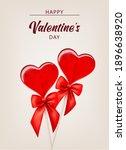 valentine background with... | Shutterstock .eps vector #1896638920