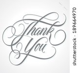thank you hand lettering   ... | Shutterstock .eps vector #189664970