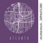 atlanta map poster. decorative...   Shutterstock .eps vector #1896651280