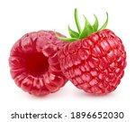 Fresh Raspberry Isolated On...