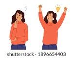 female find solution. problem... | Shutterstock .eps vector #1896654403