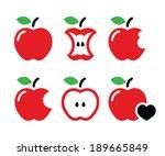 redd apple  apple core  bitten  ...   Shutterstock .eps vector #189665849