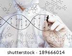 scientist sketching dna... | Shutterstock . vector #189666014