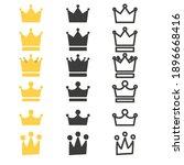set of crown icons. vector... | Shutterstock .eps vector #1896668416