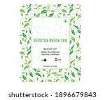 green tea with green leaf bag... | Shutterstock .eps vector #1896679843