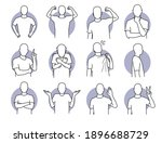 basic human actions and body... | Shutterstock .eps vector #1896688729