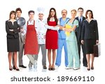group of workers people.... | Shutterstock . vector #189669110