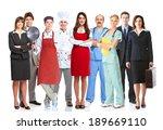 group of workers people.... | Shutterstock . vector #189669110