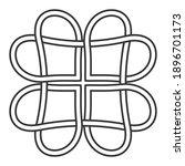 celtic knot of hearts pattern ... | Shutterstock .eps vector #1896701173