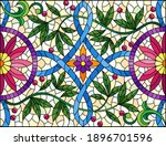 illustration in stained glass... | Shutterstock .eps vector #1896701596