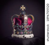 Royal Golden Crown With Jewels...