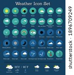 weather set icon pack for you | Shutterstock .eps vector #1896709249