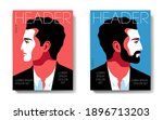 two variants of magazine cover... | Shutterstock .eps vector #1896713203