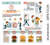 the 5 food groups infographics. | Shutterstock .eps vector #189672134