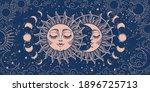 magic background for tarot ... | Shutterstock .eps vector #1896725713