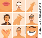 beauty studio social media... | Shutterstock .eps vector #1896745453