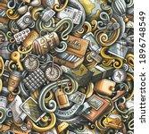 traveling hand drawn doodles...   Shutterstock . vector #1896748549