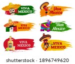 viva mexico isolated icons with ...   Shutterstock .eps vector #1896749620