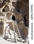 Cliff Dwellings And Ladders In...
