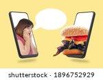 Fat Woman On Black Smartphone...