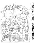 funny coloring page. boy and...   Shutterstock .eps vector #1896754153