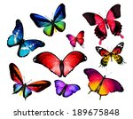 many different butterflies ... | Shutterstock . vector #189675848