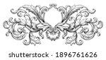 vintage baroque floral frame... | Shutterstock .eps vector #1896761626