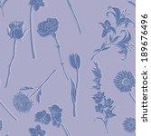 vector seamless pattern of... | Shutterstock .eps vector #189676496