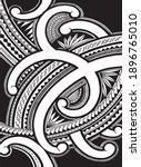 polynesian samoa ornament... | Shutterstock .eps vector #1896765010