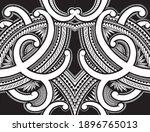 polynesian samoa ornament...   Shutterstock .eps vector #1896765013