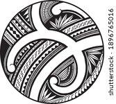 polynesian samoa ornament... | Shutterstock .eps vector #1896765016