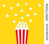 popcorn popping. cinema movie... | Shutterstock . vector #1896770446