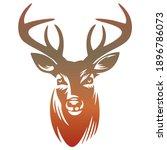 deer head silhouette vector...   Shutterstock .eps vector #1896786073