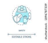 safety turquoise concept icon.... | Shutterstock .eps vector #1896787339