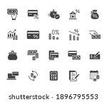 money loan flat icon set.... | Shutterstock .eps vector #1896795553