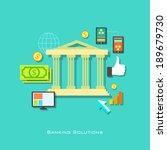 illustration of banking... | Shutterstock .eps vector #189679730
