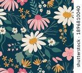 pretty floral pattern in big... | Shutterstock .eps vector #1896810040