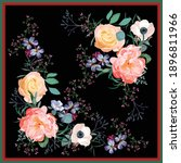 scarf design with colorful wild ... | Shutterstock .eps vector #1896811966