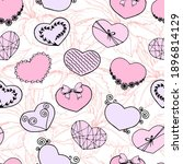 seamless pattern with pink... | Shutterstock .eps vector #1896814129