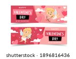 valentine's day banners with... | Shutterstock .eps vector #1896816436