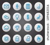 flat icons set   isolated on...