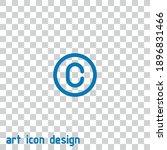copyright vector icon on an... | Shutterstock .eps vector #1896831466