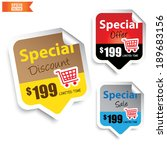 special discount  special offer ... | Shutterstock .eps vector #189683156