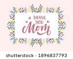 thank you mom hand drawn... | Shutterstock .eps vector #1896837793